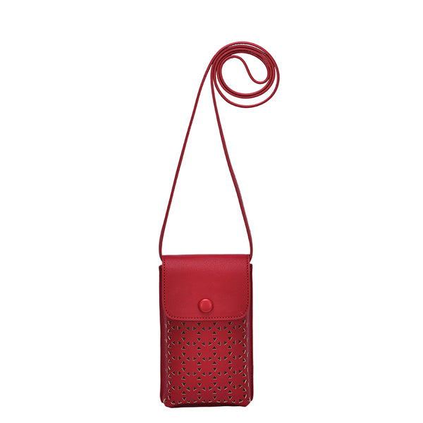 Allie Perforated Cell Phone Bag Crossbody - Mellow World