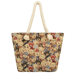 Teddy Bear Canvas Tote - Mellow World