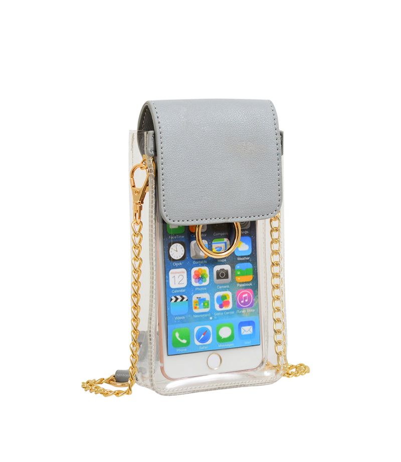 Zoe Transparent Cell Phone Bag - Mellow World