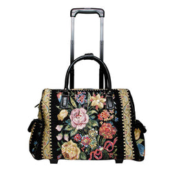 Flower Shop Hand Beaded Rolling Tote - Mellow World