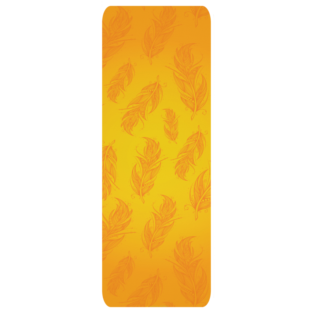 Golden Feather Custom Printed Yoga Mat