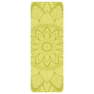 green flower design custom Yoga Mats