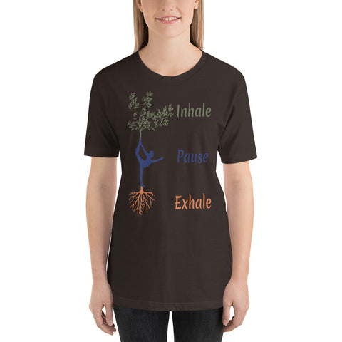 Inhale - Pause - Exhale : Yoga Short-Sleeve Unisex T-Shirt