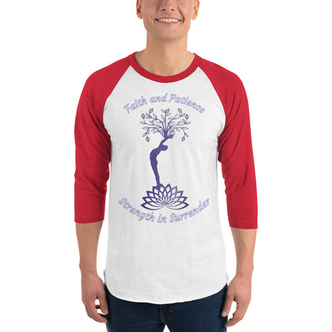 Image of 3/4 sleeve raglan shirt