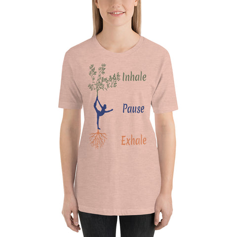 Image of Inhale - Pause - Exhale : Yoga Short-Sleeve Unisex T-Shirt