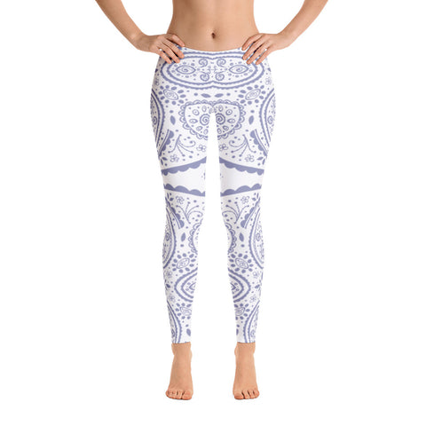 Image of Purple Floral Mandala Leggings