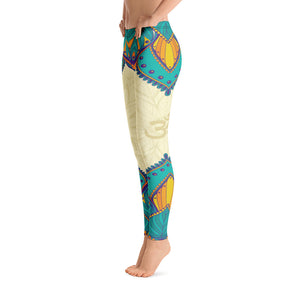 Aum Mandala Blue Yoga Leggings