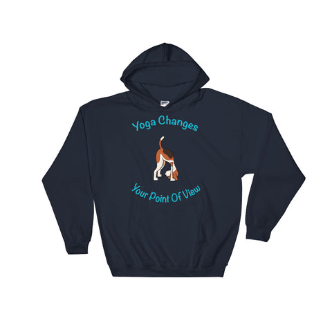 Cute Dog Yoga Hooded Sweatshirt - Yoga changes the point of view