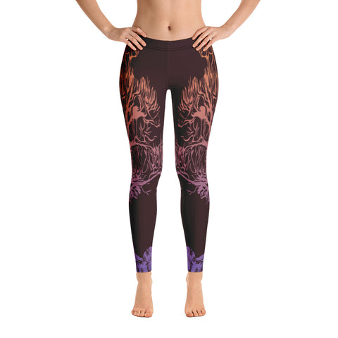 Black Tree Yoga Leggings