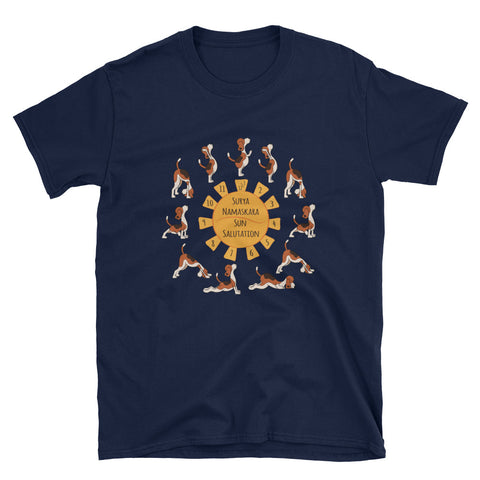 Dog doing Sun Salutation - Surya Namaskar T-Shirt