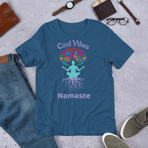 Image of Cool Vibes Namaste - Short-Sleeve Unisex T-Shirt