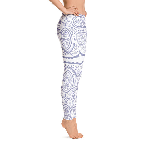 Purple Floral Mandala Leggings