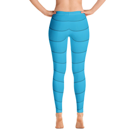 Blue Wavy Leggings
