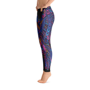 Black Butterfly Yoga Leggings