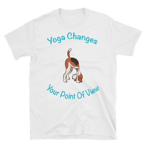 Yoga Changes your point of view - Dog upside down  T-Shirt