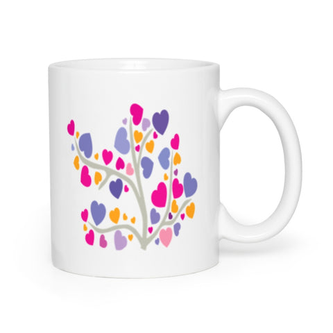 Image of Yogini Love Within Tree of Hearts Mugs