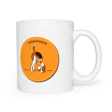 Image of Uttanasana Surya Namaskar Dog Yoga Mugs