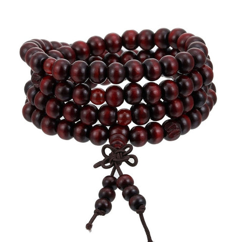 8mm Natural Sandalwood Prayer Bead Mala