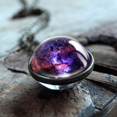 Entire Galaxy in a Necklace | Universe in a Pendant