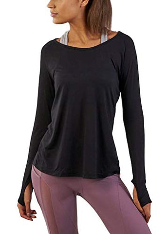 noveldesign attractive & durable structural disablities Mippo Women'S Sexy Workout Yoga Tops Long Sleeve Split Back Leisure T-Shirt  Casual Sweaters With Thumb Holes Gym Sports Running Tee Flowy Exercise ...