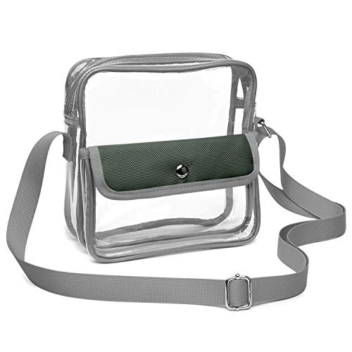 f2373e552fbf Clear Purse Stadium Approved For Nfl, Pga, Clear Crossbody Bag For Women Men