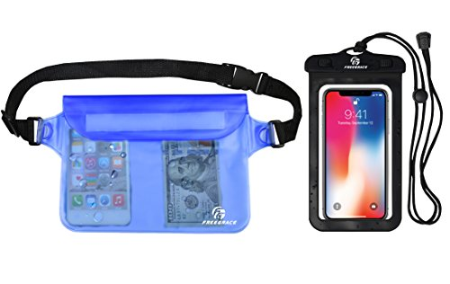 Freegrace Premium Waterproof Pouch Set With Waist/Shoulder Strap - Best Way  To Keep Your Phone And Valuables Dry And Safe - Perfect For Boating