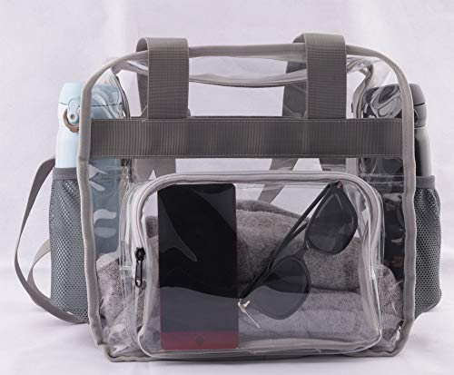 2708db182d8f Haoguagua Heavy-Duty Clear Stadium Bag Clear Crossbody Tote Bag Nfl &Amp;  Pga Stadium Approved 12 X 12 X 6, With Extra Long Adjustable Shoulder Strap  ...