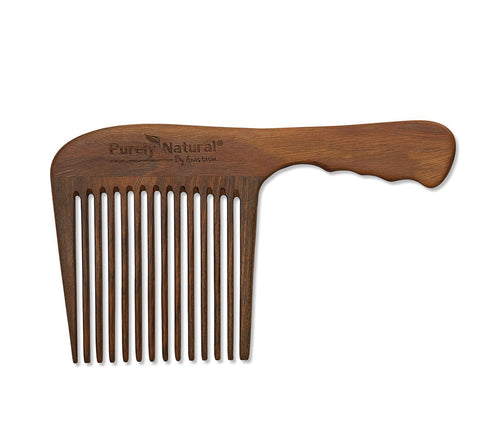 Sandalwood Long-handled wide-toothed Comb from Purely Natural by Anastasia