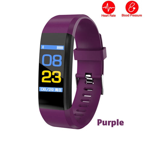 Fitness tracker smart watch w/heart rate monitor, sleep monitor, remote camera