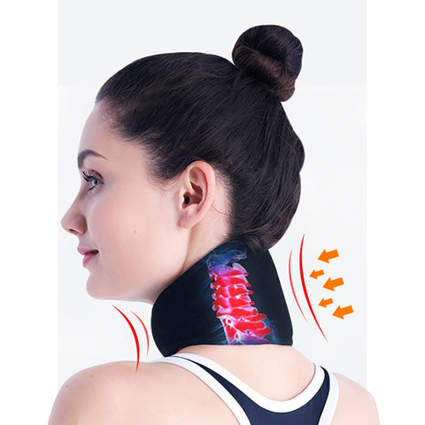 Magnetic Self-heating Neck band with tourmaline
