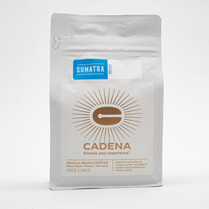 Sumatra coffee bag - front
