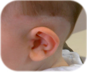 Shaving Hair above babies ear