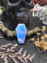 Load image into Gallery viewer, Aurora Opal Coffin Ring | Size 5.5 - Serpent + Sage