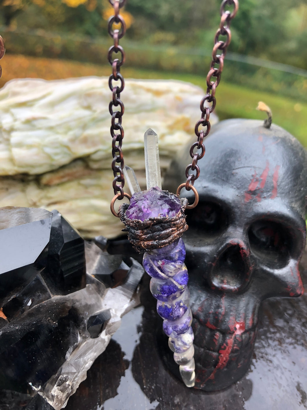 Amethyst Crown of Thorns - Serpent + Sage
