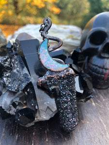 Black Knight Spirit Quartz - Serpent + Sage