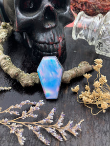 Aurora Opal Coffin Ring | Size 5.5 - Serpent + Sage