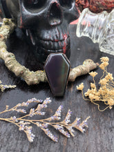 Load image into Gallery viewer, Rainbow Obsidian Coffin Ring | Size 8 - Serpent + Sage