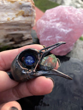 Load image into Gallery viewer, Copper Bird Skull | Lapis Lazuli and Prasiolite - Serpent + Sage