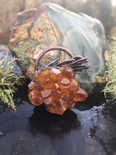 Load image into Gallery viewer, Citrine Crystal Cluster with Real Lavender Leaves - Serpent + Sage