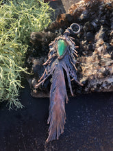 Load image into Gallery viewer, Real Feather with Chrysocolla - Serpent + Sage