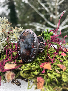 Saint John Agate Filigree Ring | Size 6.75 - Serpent + Sage