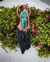 Load image into Gallery viewer, Black Kyanite and Turquoise - Serpent + Sage