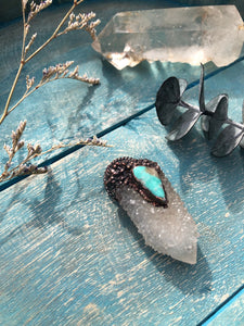 Spirit Quartz and Turquoise Talisman - Serpent + Sage