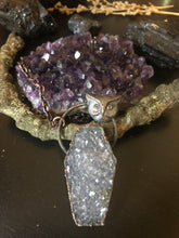 Load image into Gallery viewer, Owl Totem - Druzy Amethyst Coffin - Serpent + Sage