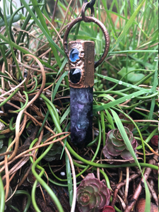 Fluorite Crystal Point with Raw Sapphires - Serpent + Sage