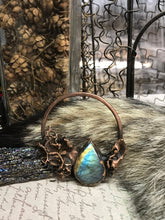 Load image into Gallery viewer, Flashy Labradorite and Moss Pendant - Serpent + Sage