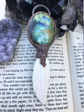 Load image into Gallery viewer, The Dreamcatcher | Labradorite and Carved Bone Feather - Serpent + Sage