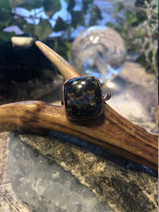 Pietersite Ring - Size 6 - Serpent + Sage