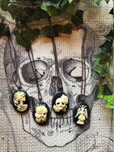 Load image into Gallery viewer, Skull Cameo Pendants - Serpent + Sage