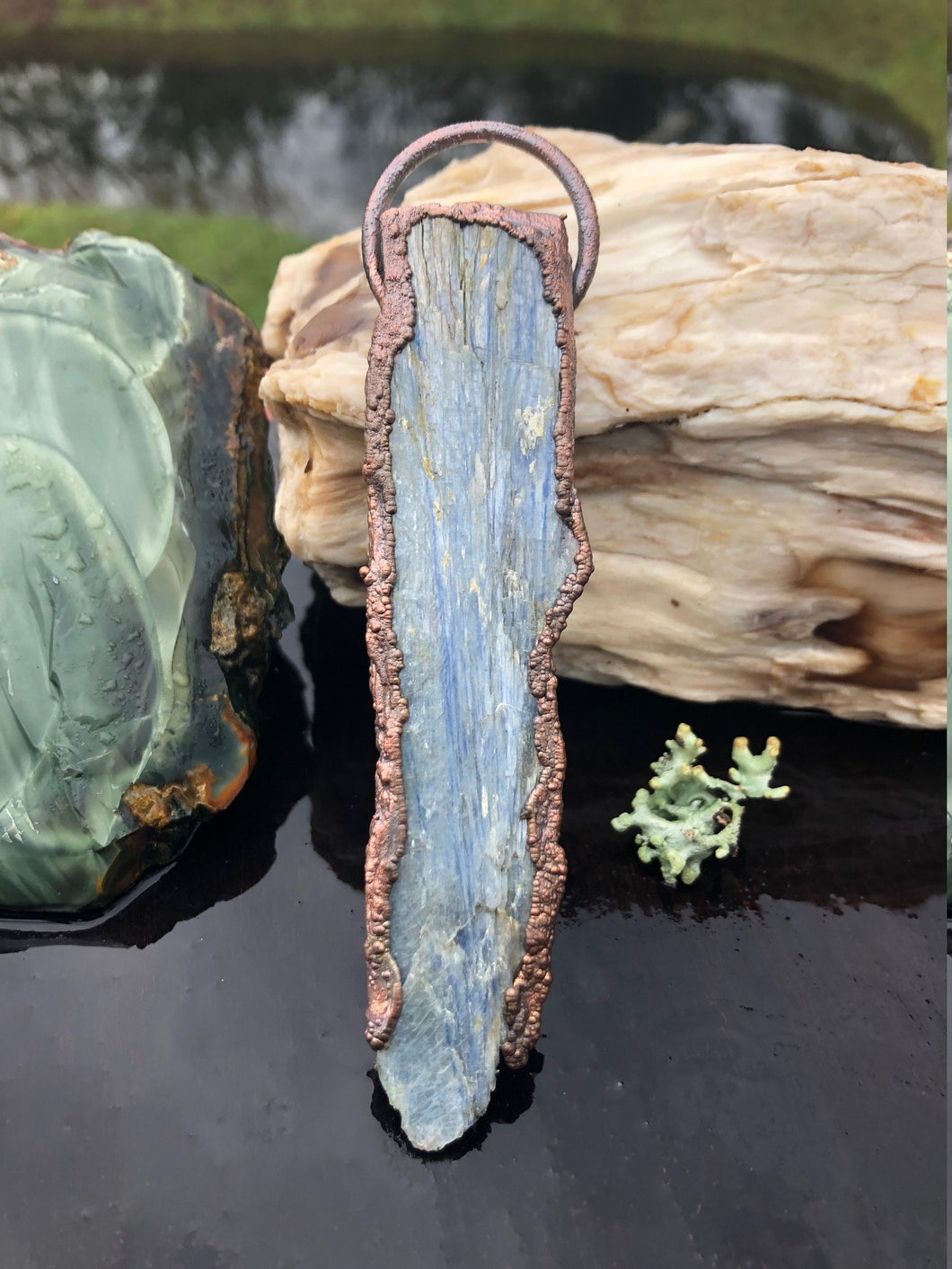 Rough Blue Kyanite Blade Pendant | Unisex Jewelry - Serpent + Sage